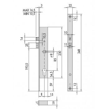 Elettroserratura CISA 16205 da infilare per montanti