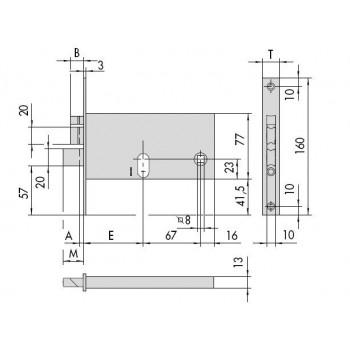Elettroserratura CISA 14460 da infilare per fasce