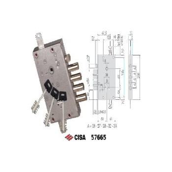 Serratura CISA 57665 da applicare ricifrabile a doppia mappa con leve Antipicking