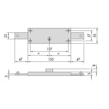 Serratura CISA 41510.78 per serranda
