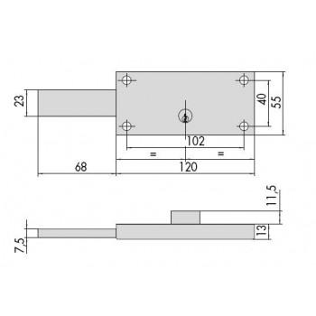 Serratura CISA 41110.60 per serranda
