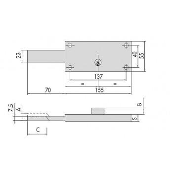 Serratura CISA 41230.78 per serranda