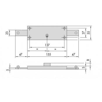 Serratura CISA 41210.78 per serranda
