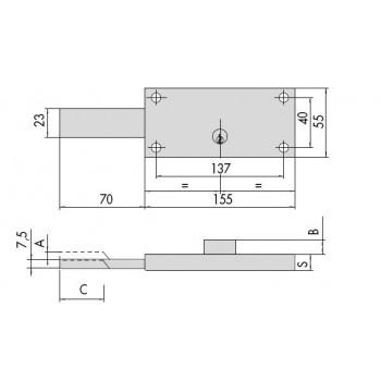 Serratura CISA 41526.78 per serranda
