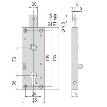 Serratura CISA 41620 per serranda