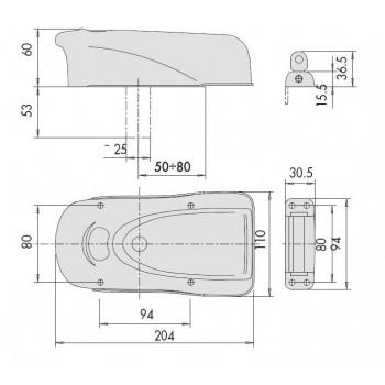 Elettroserratura CISA Elettrika 1A610 per legno