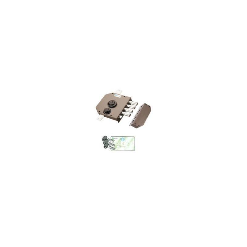 Serratura Mottura 30.630C10 triplice con chiave punzonata 92C10