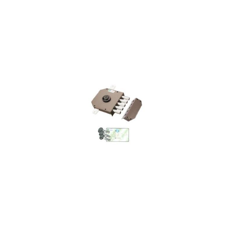 Serratura Mottura 30.620C10 triplice con chiave punzonata 92C10