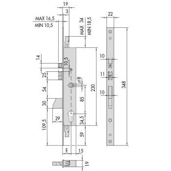 Elettroserratura CISA 16225 da infilare per montanti