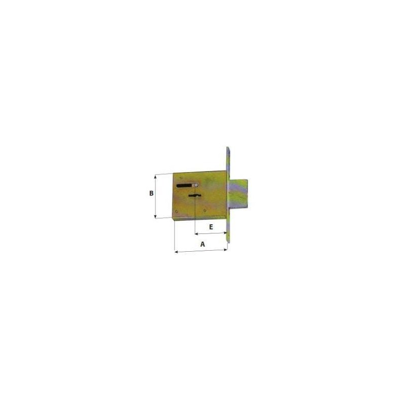 Serratura Cerutti S2100-S2101-S2102 da infilare doppia mappa