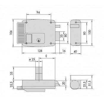 Elettroserratura CISA da applicare 11731