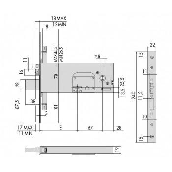 Elettroserratura CISA 17357.90 da infilare per fasce