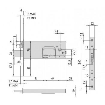 Elettroserratura CISA 17352 da infilare per fasce