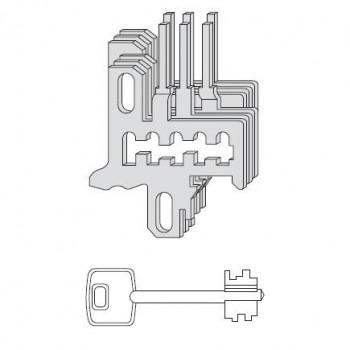 Nottolini Cisa 07591.21 fornito con 3 chiavi