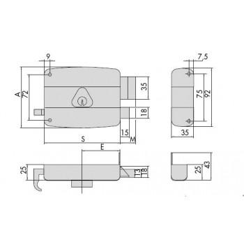 Serratura CISA 50110 da applicare per portoncino
